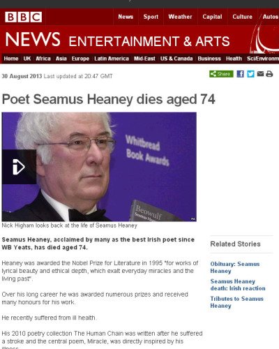 a sense of place seamus heaney This week is going to be a health hazard - 8000 word dissertation in on thursday, deadboy show thursday night, 3000 essay in on friday essay einleitung translation.