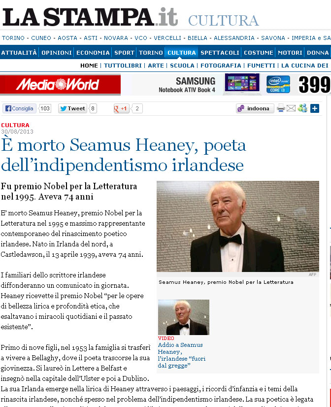 seamus heaney limbo Continuing heaney poems (although people seemed to be unreceptive to the other side), here is another of heaney's lesser known poems .