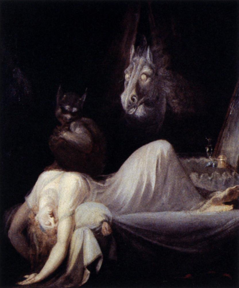 The Nightmare by  Johann Heinrich Füssli, 1790-1791, Olio su tela, 75,5x64 cm, Goethe - Museum, Frankfurt am Main
